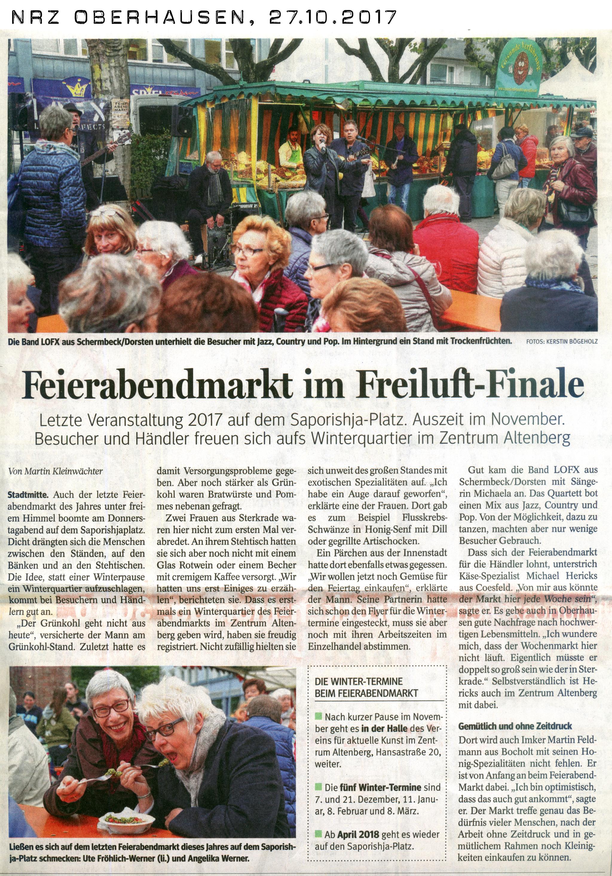 NRZ Oberhausen, 27.10.2017