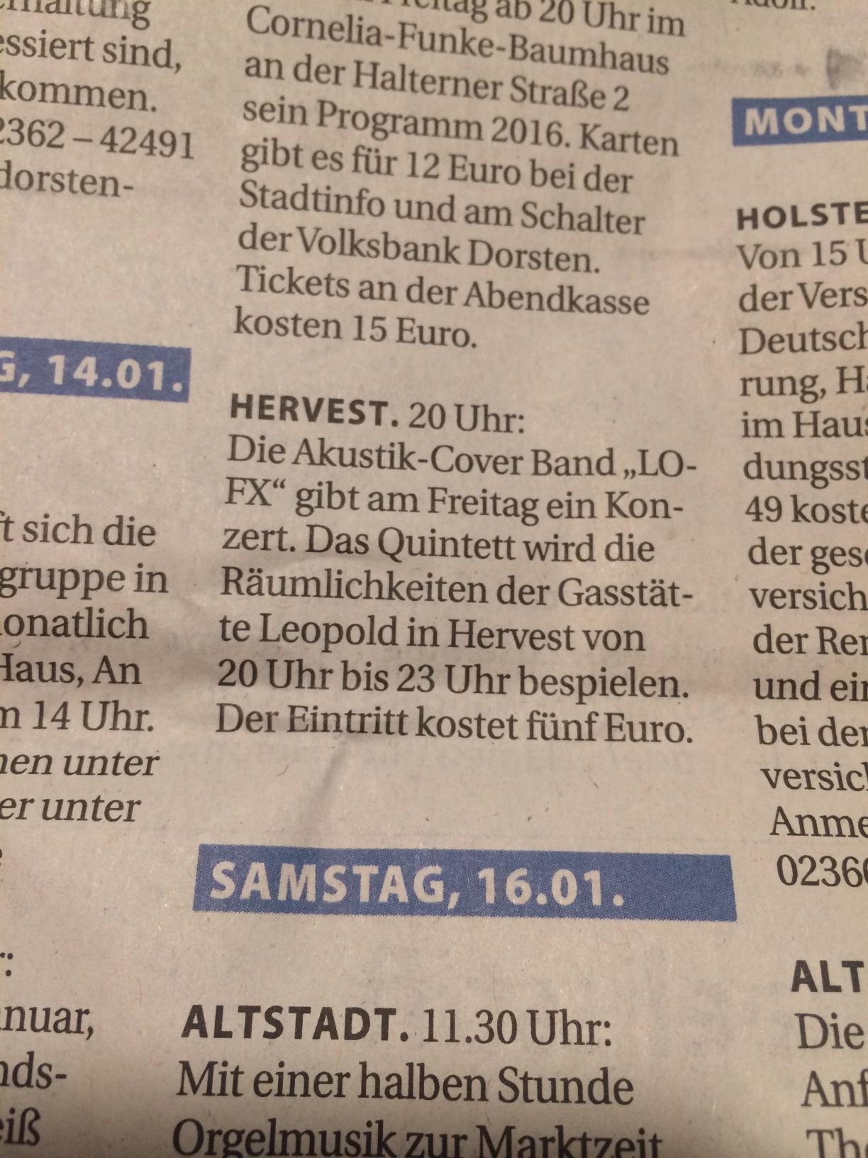 Stadtspiegel Dorsten 13.01.16