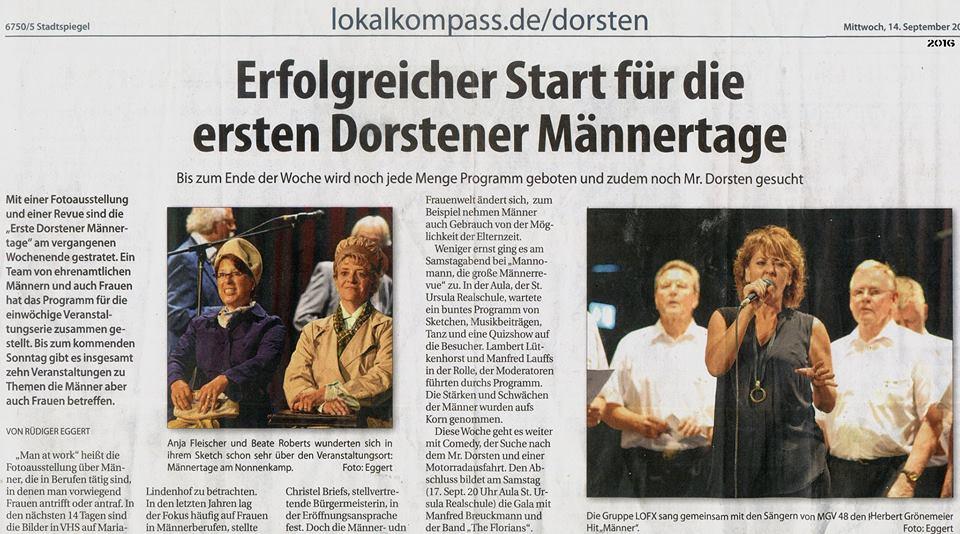 Stadtspiegel Dorsten 15.9.16
